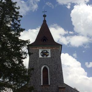 Joga Kvilda - obrazek kostela sv. Stepana